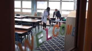 Teachers in a Chicago public school