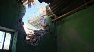 Building hit by shelling in Mekelle before 28 November