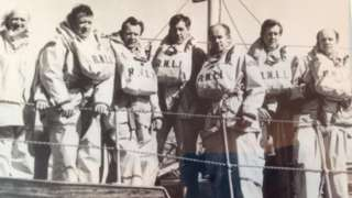 Six of the Brunton brothers who served for the Dunbar RNLI