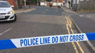 Police cordon at Bull Street