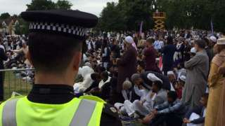 Police officer at Eid event