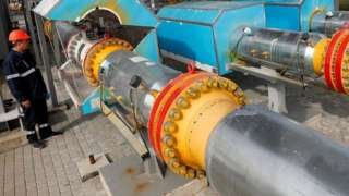 Gas metering station at Berehove in Ukraine