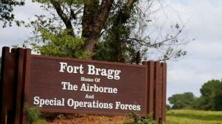 A sign for Fort Bragg