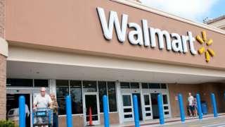 Fachada de loja Walmart