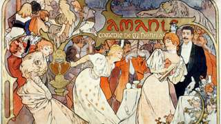 Cartaz de Alphonse Mucha da obra Amants del Theatre de la Renaissance