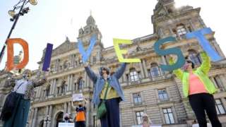 Campaigners have been calling on Glasgow City Council to divest fossil fuel funds
