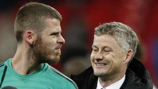 David de Gea and Ole Gunnar Solskjaer