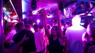 Dancers at the Fibre nightclub in Leeds