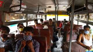 Migrant workers returning to Bangalore
