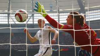 Hope Solo in the World Cup final