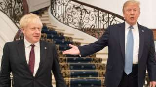 Boris Johnson meeting Donald Trump for bilateral talks at G7 summit in France on 25 August 2019