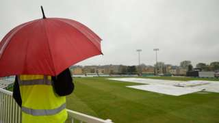 Rain stopped play at Chelmsford