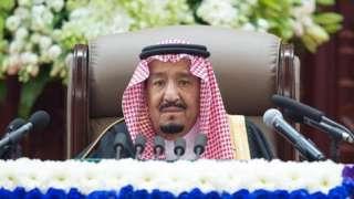 King Salman addresses the Shura Council in Riyadh, 19 November 2018