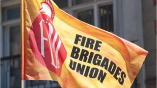 Fire Brigades Union flag