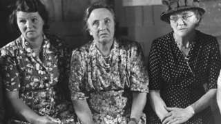 Three members of Bishop Itchington parish council pictured in 1951
