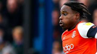 Pelly-Ruddock Mpanzu in action for Luton Town