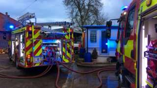 Fire engines at Worlingham