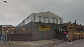 The Brush factory on Nottingham Road, Loughborough