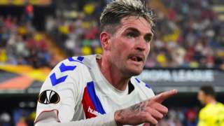 Rangers' Kyle Lafferty celebrates