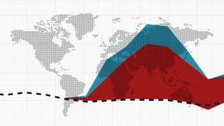 promotional graphic for article on the true death toll of the coronavirus pandemic, highlighting the number of excess deaths globally