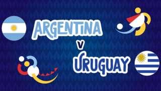 Argentina v Uruguay badge graphic