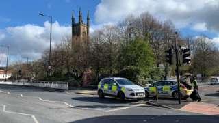 Shooting scene in Sheffield