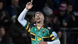 South Africa winger Courtnall Skosan scored tries number four, six and eight on his Northampton Saints debut