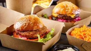 Burgers in packaging