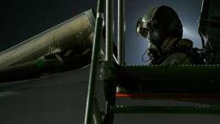 Tornado pilot in cockpit