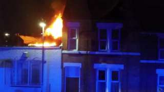 Fire at Derby garage