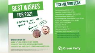 Green party leaflets
