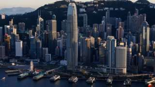 A general view of Two International Finance Centre (IFC), HSBC headquarters and Bank of China are seen in Hong Kong, China July 13, 2021