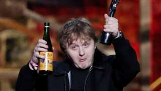 Lewis Capaldi won two awards at the Brits 2020