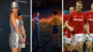 Rihanna, Stranger Things poster, Welsh rugby team