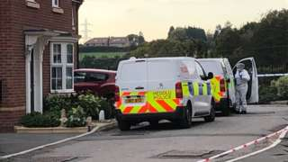 Scenes of Crime team at property in Cypress Crescent, St Mellons, Cardiff