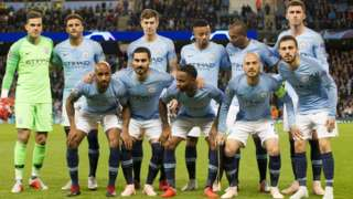 The Manchester City team that faced Lyon