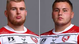 Gloucester prop forwards Alex Seville and Ciaran Knight