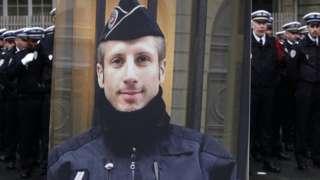 A portrait of slain police officer Xavier Jugele. Photo: 25 April 2017