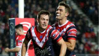 Sydney Roosters celebrate