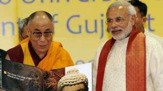 modil and dalai lama