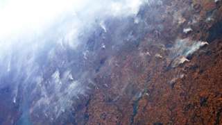 The Amazon rainforest fires captured from the ISS (c) ESA/NASA/Luca Parmitano
