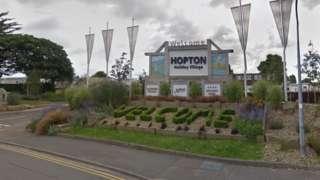 Hopton Holiday Village sign
