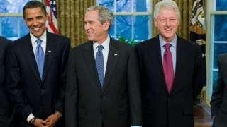 أوباما وبوش وكلينتون
