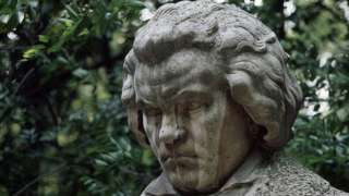 Bust statue of Beethoven