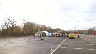 Gatwick Airport Covid-19 testing centre