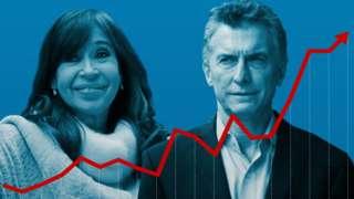 Cristina Fernández y Mauricio Macri