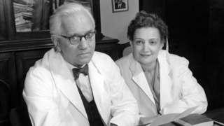 Aleksandar Fleming sa suprugom 1954. godine