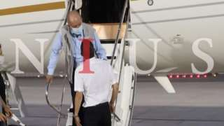 A Nius photograph which appears to show Juan Carlos arriving in Abu Dhabi