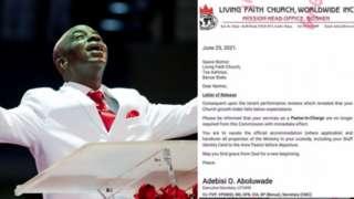 Bishop Oyedepo na di founder of di Living Faith Church Worldwide