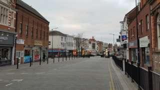 Abington Street in Northampton.